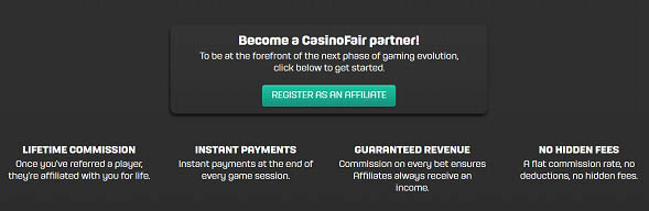 casinofair affiliate